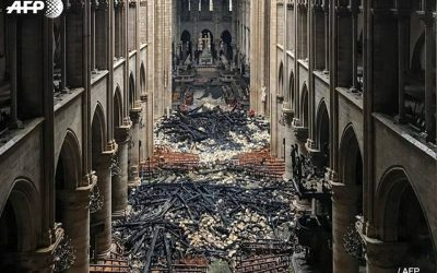 LOOK: Aftermath of Notre Dame blaze shows what's left of the cathedral