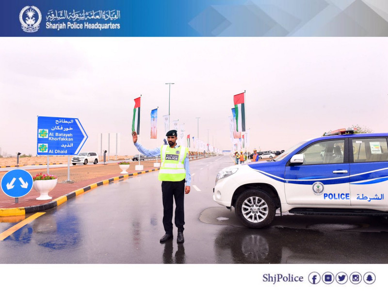 Sharjah Police receive 1,394 calls during rainy period