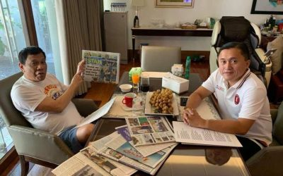 Bong Go releases Duterte pictures amid hospitalization rumors