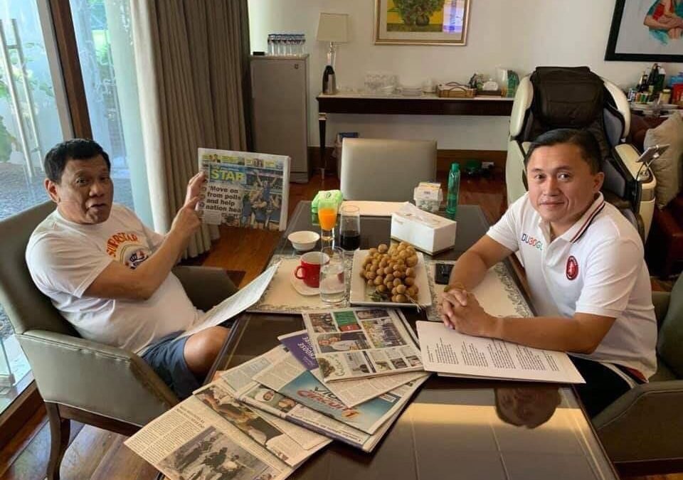Bong Go releases Duterte pictures amid hospitalization rumors