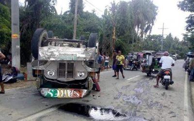 BREAKING NEWS: 17 hurt in Quezon road mishap