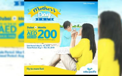 Cebu Pacific holds Mother's Day flight ticket sales for 2019