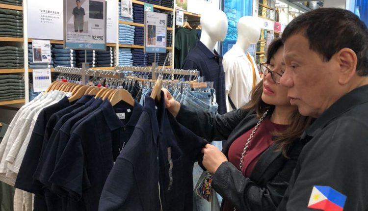 Duterte, family shop in Tokyo