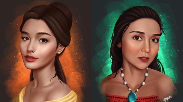 VIRAL: Artist portrays Pinay celebs as Disney princesses