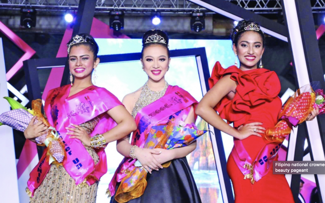 Filipina crowned at a beauty pageant in Bahrain