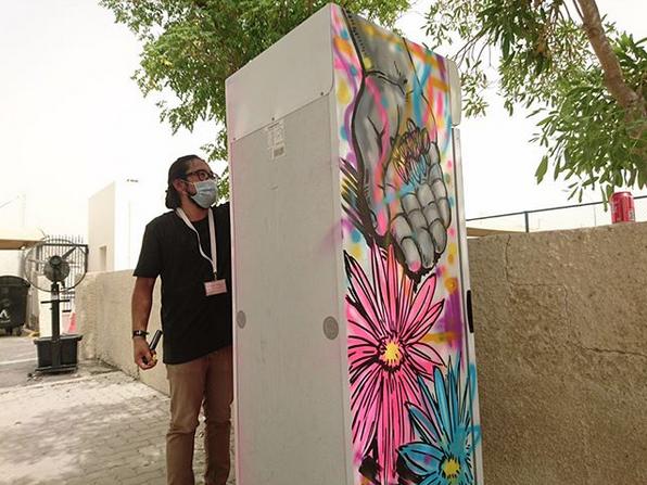 Filipino artists lead decoration of Ramadan sharing fridges