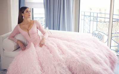 Miss Universe 2016 Iris Mittenaere wears Michael Cinco gown at Cannes