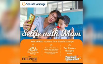 Win Dh 200 with Sharaf Exchange's 'Selfie with Mom' competition!