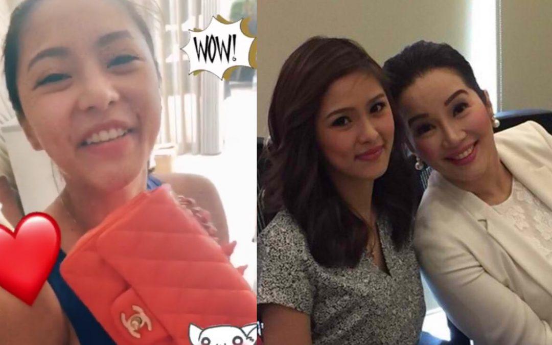 LOOK: Kim Chiu receives expensive Chanel bag from Kris Aquino