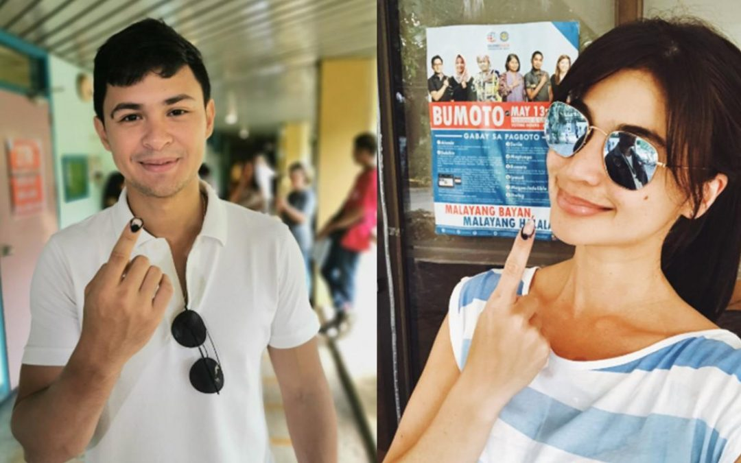 LOOK: Matteo, Anne, Jhong exercise right to vote