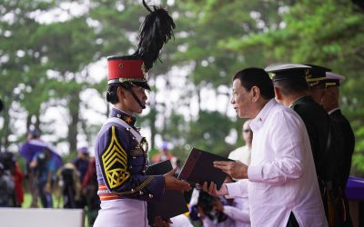 PMA Valedictorian receives house and lot from Pres. Duterte