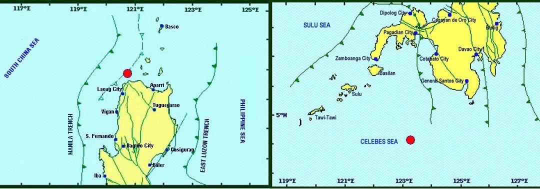 Phivolcs reports successive submarine earthquakes: 4.5 at Ilocos Norte, 4.3 magnitude at Sultan Kudarat