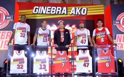 Ginebra reveals new jersey for the PBA Commissioner's Cup