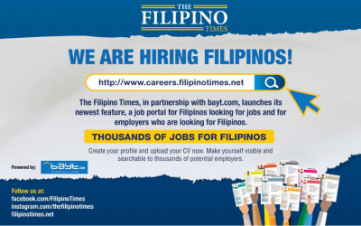 NOW HIRING: The Filipino Times' top job vacancies of the week powered by Bayt.com