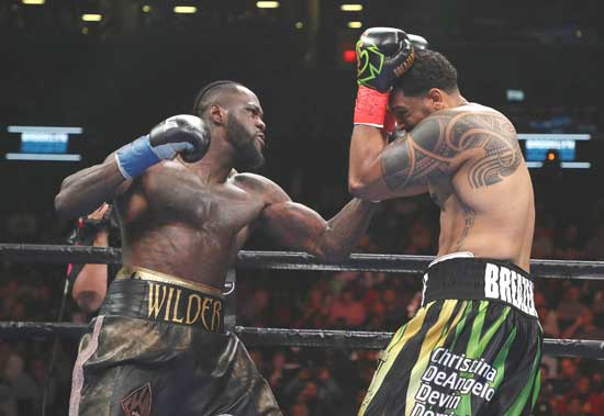 Wilder knocks Breazeale out in first round