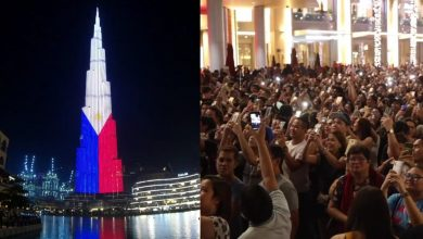 Photo of WATCH: OFWs in UAE rejoice over Burj Khalifa's PH Independence Day tribute
