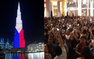 WATCH: OFWs in UAE rejoice over Burj Khalifa's PH Independence Day tribute