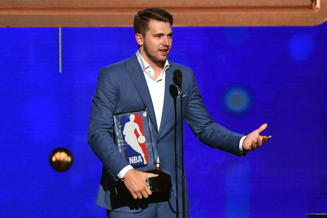 Luka Doncic wins NBA Rookie of the Year award
