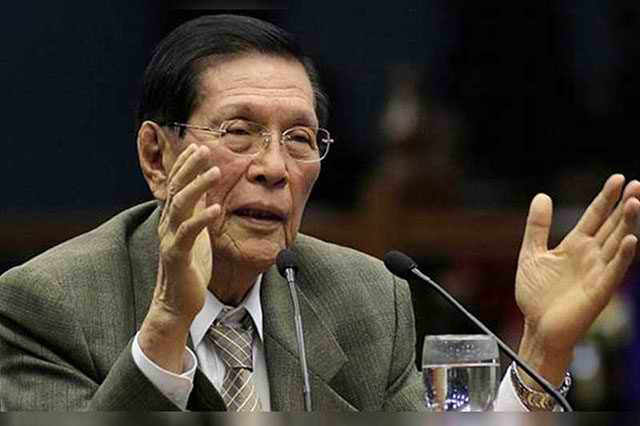 Enrile's daughter slams meme implying her father is dead