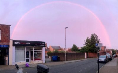 LOOK: Rare pink rainbows appear over England