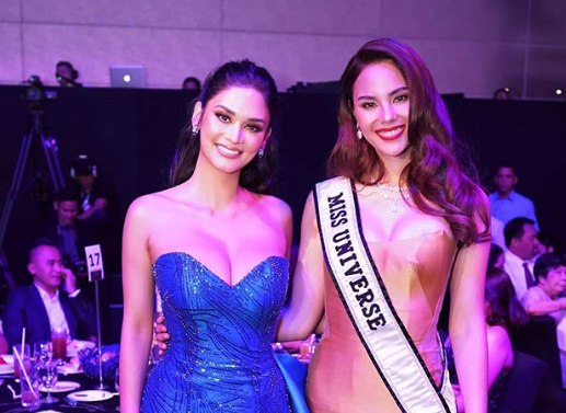 LOOK: Miss Universe winners Pia, Catriona reunite in PH