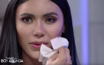 Gazini Ganados removes makeup on TV in reaction to bashers