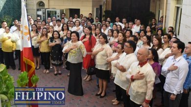 Photo of LOOK: Philippine Embassy in Abu Dhabi spearheads 121st Independence Day with flag ceremony