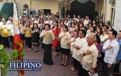 LOOK: Philippine Embassy in Abu Dhabi spearheads 121st Independence Day with flag ceremony