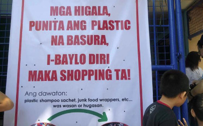 LOOK: Cebu store accepts 'plastic trash' as payment