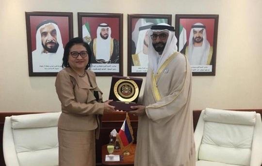 UAE Minister of State for Defence Affairs Al Bowardi receives Philippine Ambassador Quintana