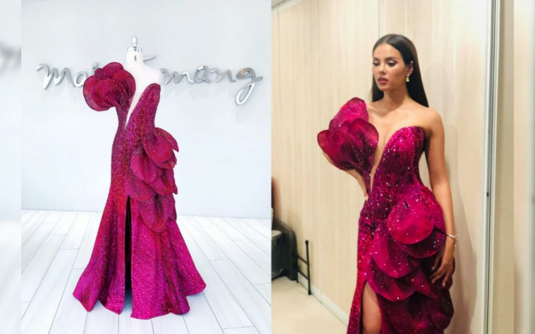 Catriona Gray's farewell walk gown inspired by 'waling-waling'