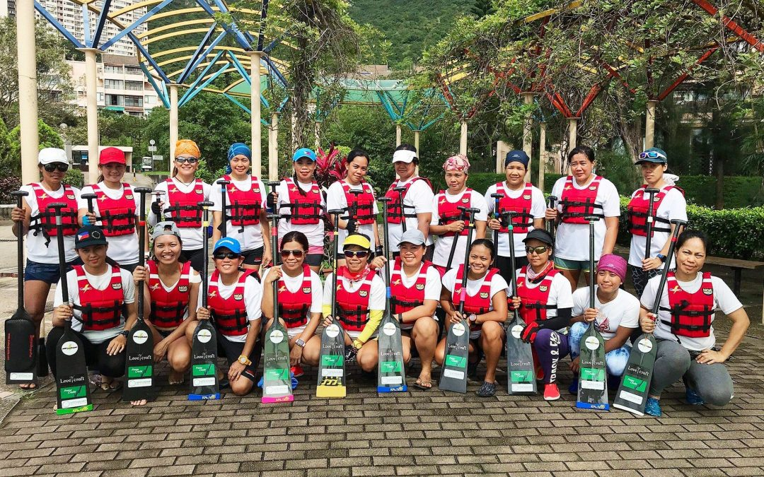 Filipina maids in HK paddle for gold in dragonboat races
