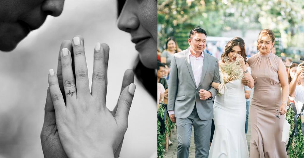 Look Dubai Ofw S Daughter Gets Wedding Tattoos Instead Of Rings