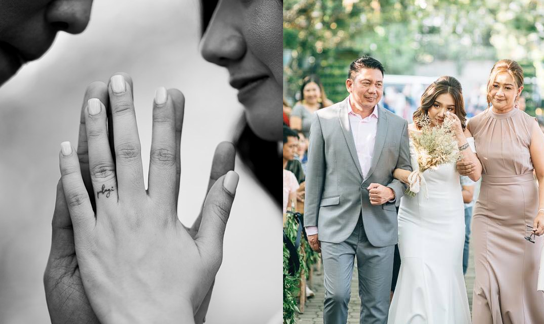 LOOK: Dubai OFW's daughter gets wedding tattoos instead of rings