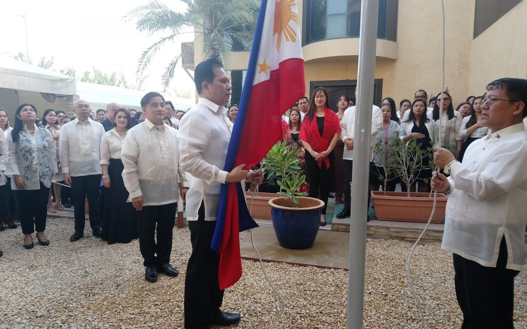 Solemn flag-raising at Philippine Consulate in Dubai marks opening salvo of Independence Day celebrations
