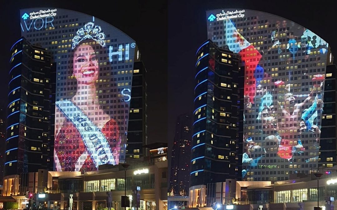 LOOK: Dubai Festival City displays images of PH, Catriona Gray, Manny Pacquiao