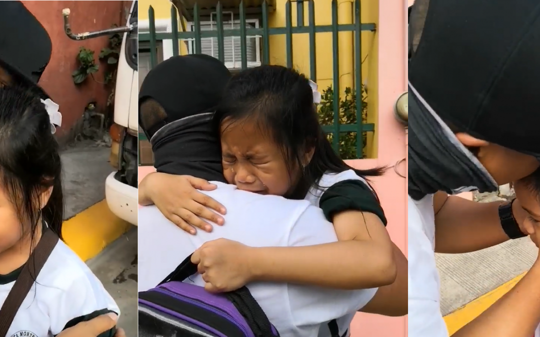 WATCH: OFW based from Saudi surprises daughter at school