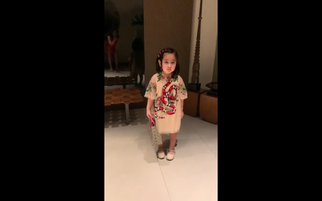 Netizens react to Scarlet Snow Belo wearing Gucci at young age