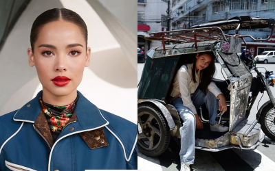 Thai actress visits PH, rides tricycle in Intramuros