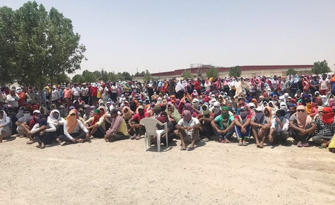 4,000 Asian workers protest wage delay in Kuwait - The Filipino Times