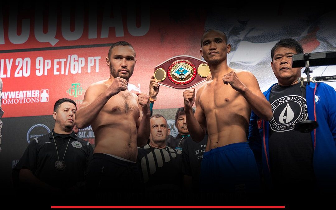 Davaoeño downs in 2nd round of undercard matches in the Pacquiao-Thurman fight