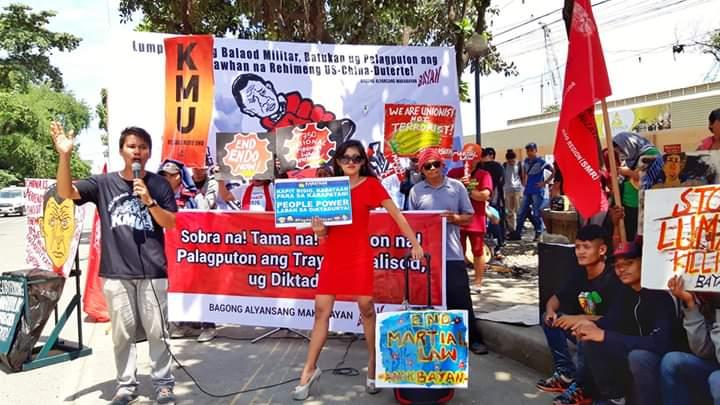 Activist attends rally as Daniela Mondragon