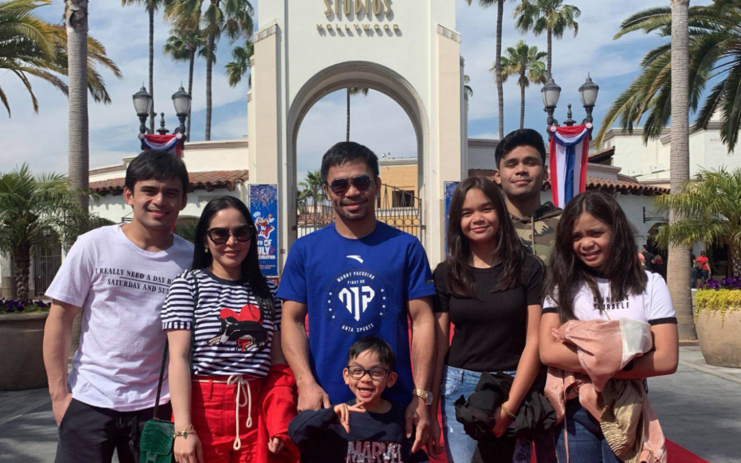 Pacquiao takes a break in training, explores Universal Studios Hollywood with family