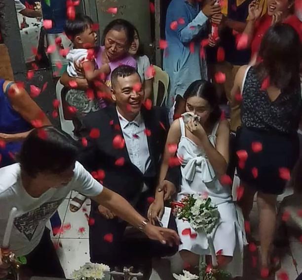 Filipina battling stage 4 ovarian cancer gets her dream wedding
