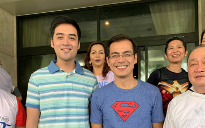 LOOK: Isko, Vico meet in fun run event