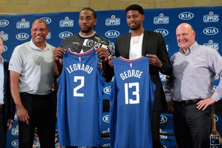 Clippers showcase all-star tandem Leonard, George