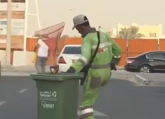 Dancing cleaner in Abu Dhabi sends good vibes to motorists, netizens