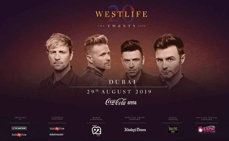 Westlife to stage one-night-only concert in Dubai