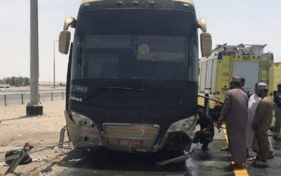 Bus carrying 52 pilgrims hits metal barrier in Abu Dhabi