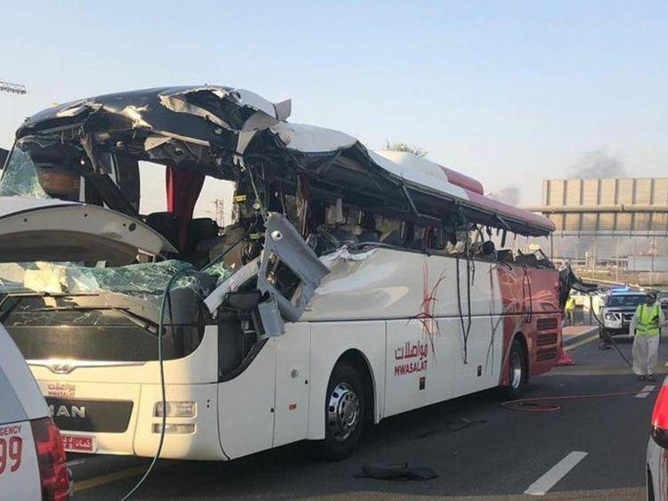 Dubai bus crash driver gets 7-yr prison term, to pay Dh3.4M